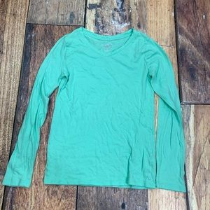 Justice long sleeve seafoam T-shirt